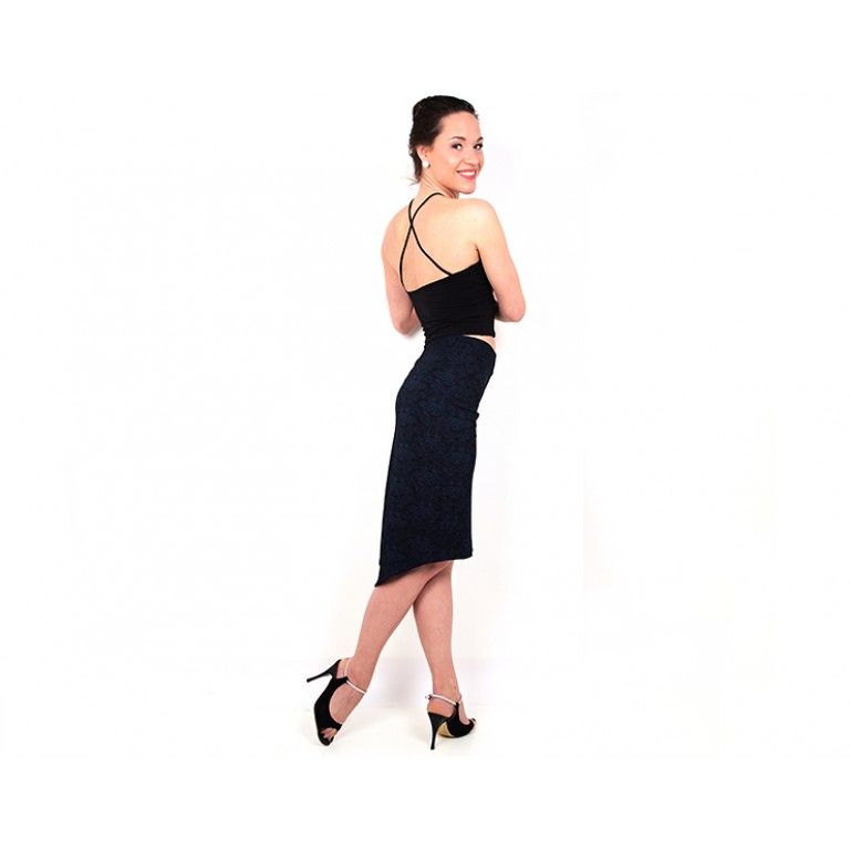 Lisadore Dance Couture - Blue Black Crown Cocoon