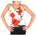 Lisadore Dance Couture - Reversible Halter Top - Papavero Rojo y Negro