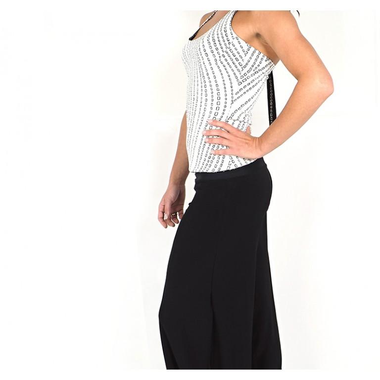 Lisadore Dance Couture - Reversible Halter Top - Lineas de Bloque Ondulado