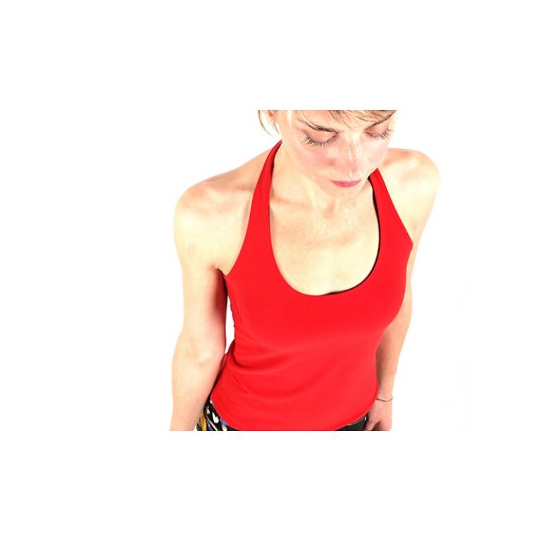 Lisadore Dance Couture - Reversible Halter Top Negra y Rojo
