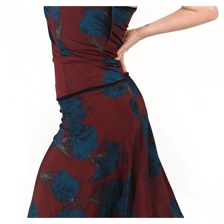 Lisadore Dance Couture - Bordo Rojo Y Turquesa