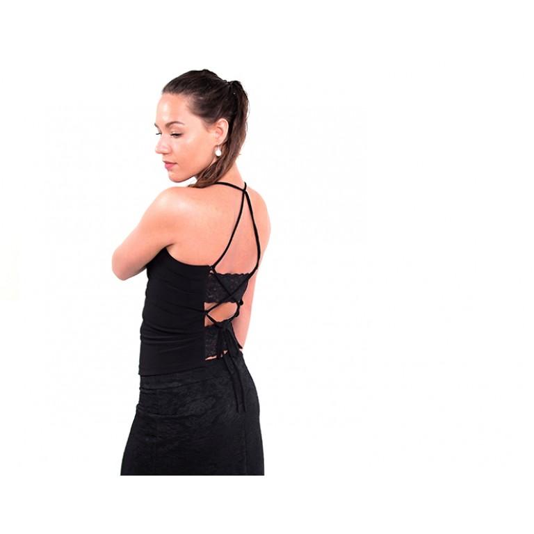 Lisadore Dance Couture - Black Lace Top