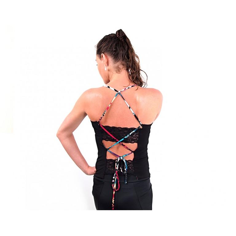 Lisadore Dance Couture - Lace Top Multicolores