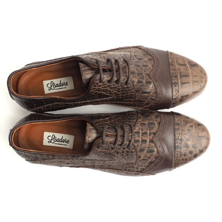 Lisadore Men Shoes - Flex - Croco Marrone