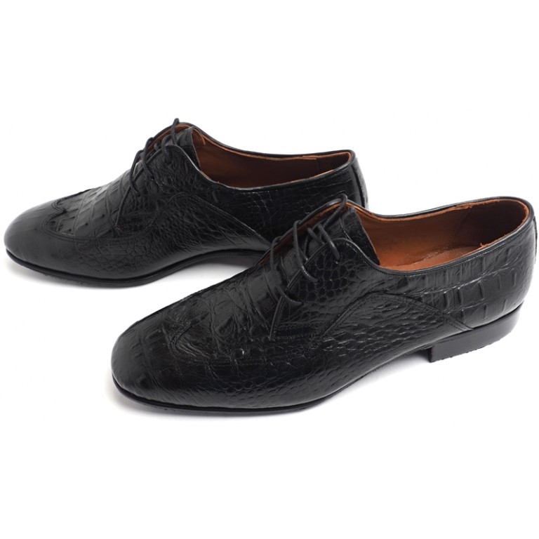 Lisadore Men Shoes - Negra Croco Padrone