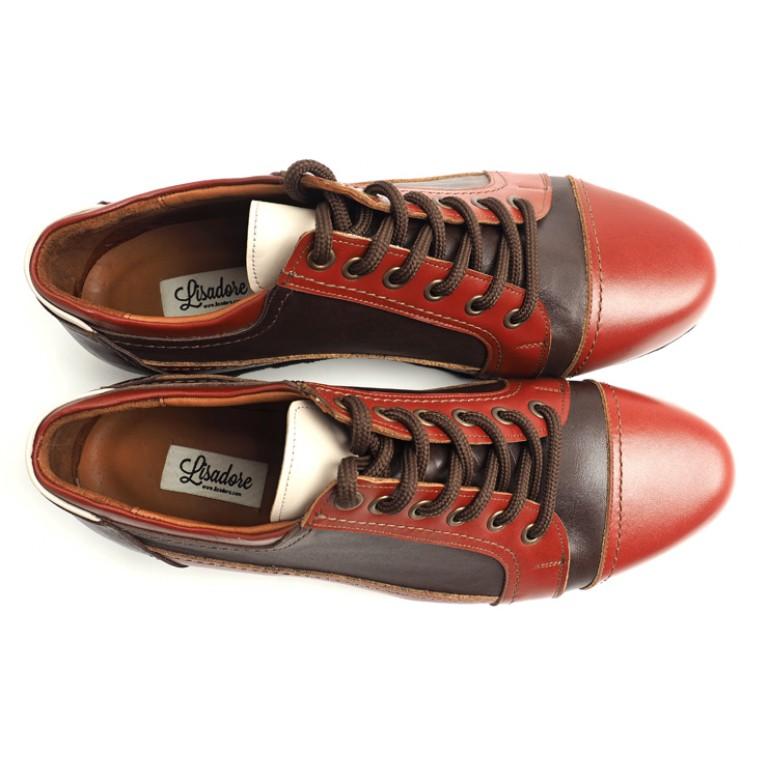 Lisadore Men Shoes - Sneaker Rosso Marrone