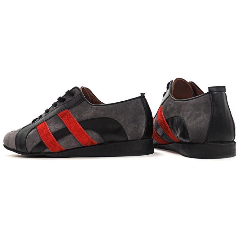 Lisadore Men Shoes - Sneaker Gris Rojo Negro