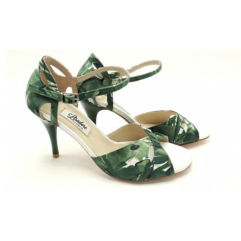 Lisadore - Flores Verde Y Blanco