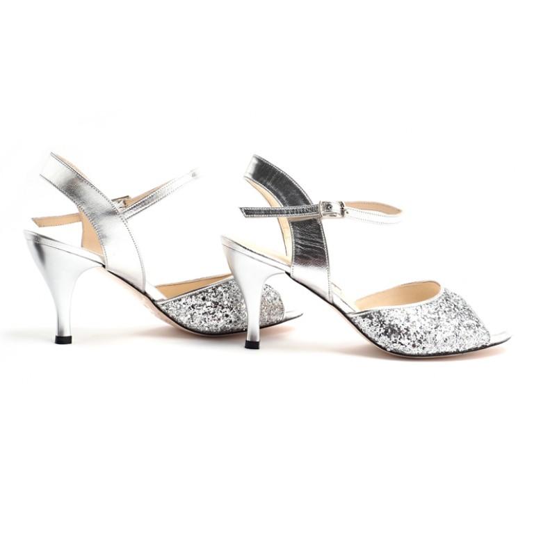 Plata Brillante - Low Heel