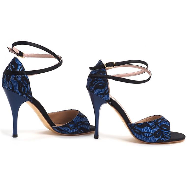 Comme il Faut - Encaje Azul Y Negro