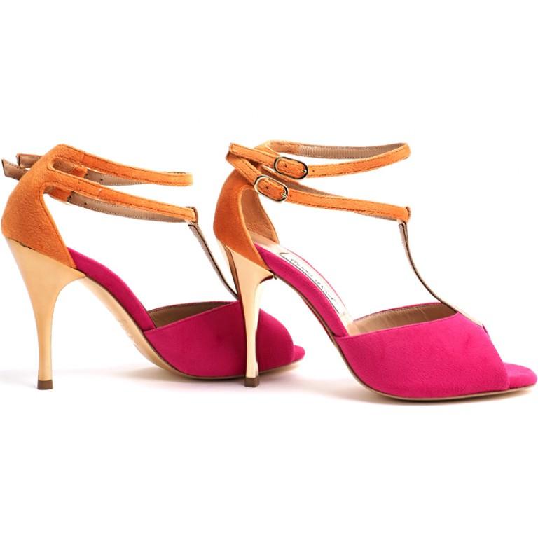 Comme il Faut Shoes - Fucsia Y Naranja