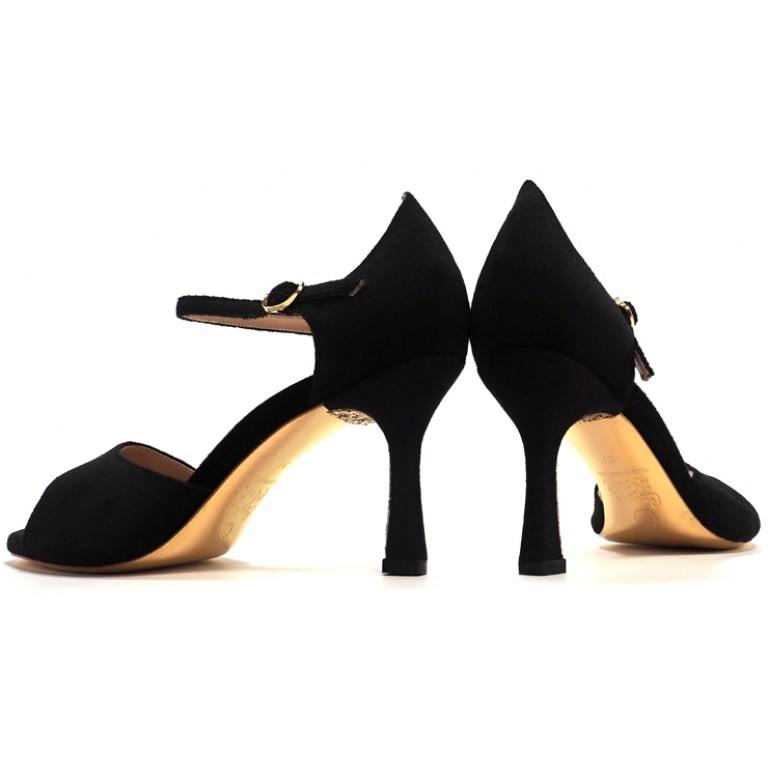 Comme il Faut Shoes - Terciopelo Negra Diablo