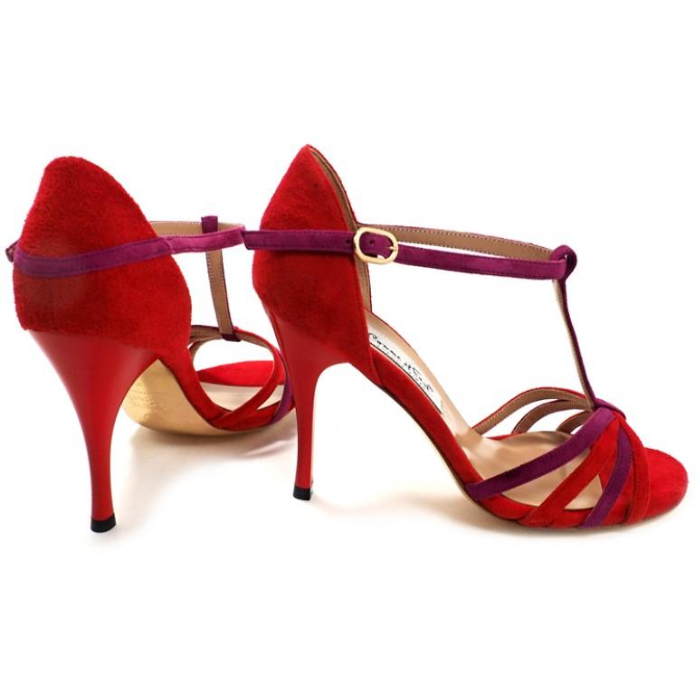 Comme il Faut - Gamuza Rojo Y Violeta Straps