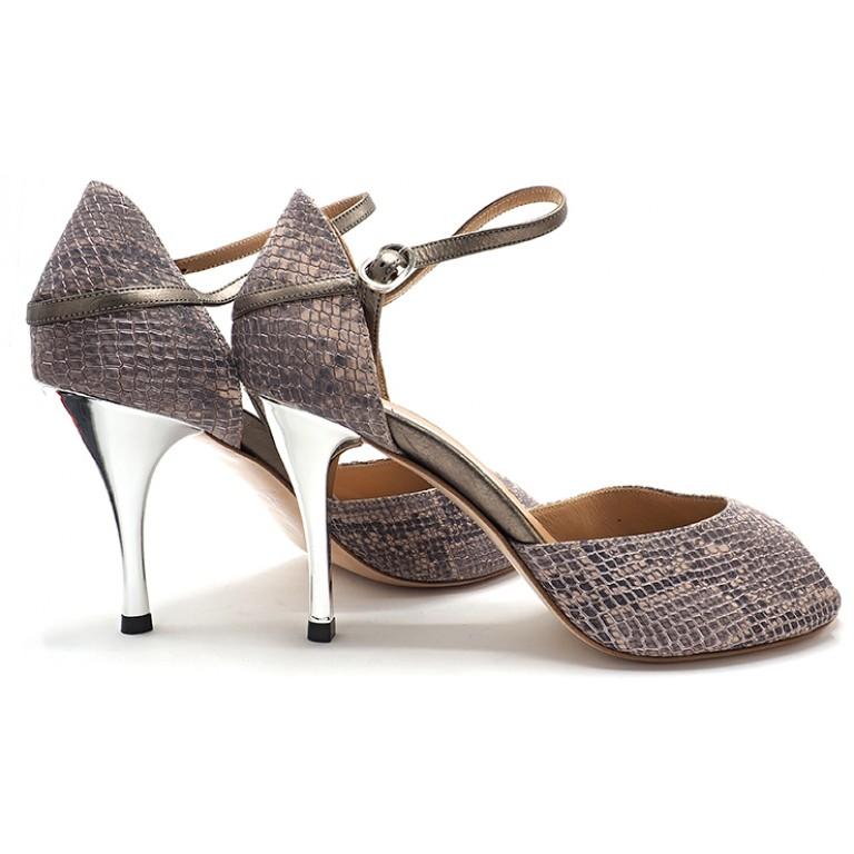 Comme il Faut Shoes - Reptil Plata Peep
